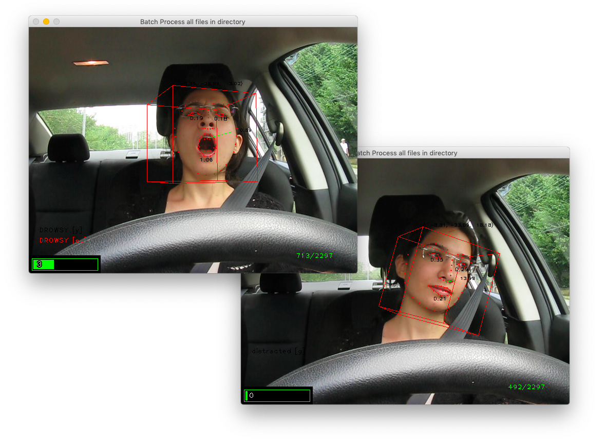 Estimating Driver Drowsiness & Distraction with Deep Learning & Computer Vision